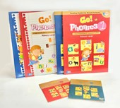 Go Phonics Level 1+2 Book Set ( 2Books + 2Workbook + 2DVD + 2 Posters )